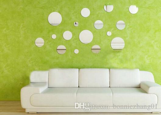 3d round Wall Stickers Mirrors Self-adhesive Tiles Mirror Wall paper for Wall Declas Poster Wall Decorative