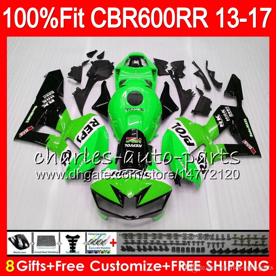 Injection Body For HONDA CBR 600 RR CBR600RR 13 14 15 16 17 Repsol Green 89NO2 CBR 600RR F5 CBR600 RR 2013 2014 2015 2016 2017 Fairing kit