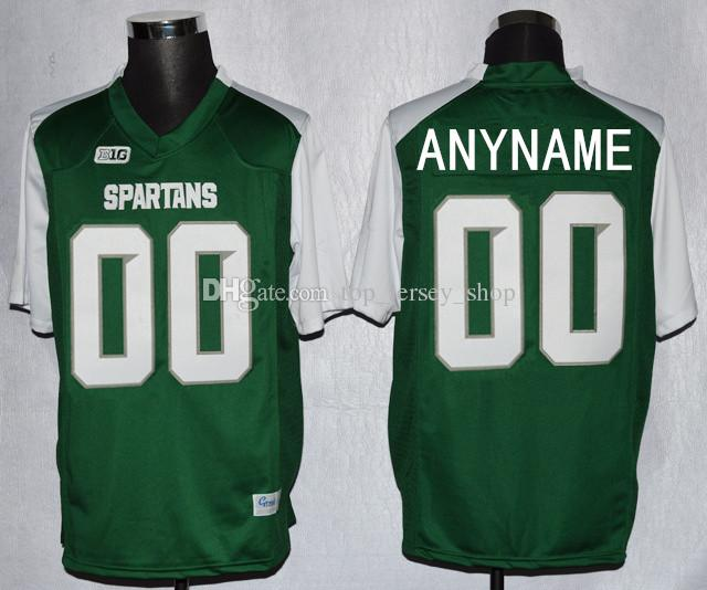 5fb8e2f2c84 ... 2017 Mens Custom Michigan State College Football Jerseys Spartans Green  White Stitched Personalized Jerseys Customized S ...