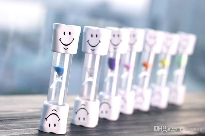 Children Kids Toothbrush Timer Smiling Face 3-Minute Smile Sandglass Tooth Brushing Hourglass Sand Clock Home Decoration