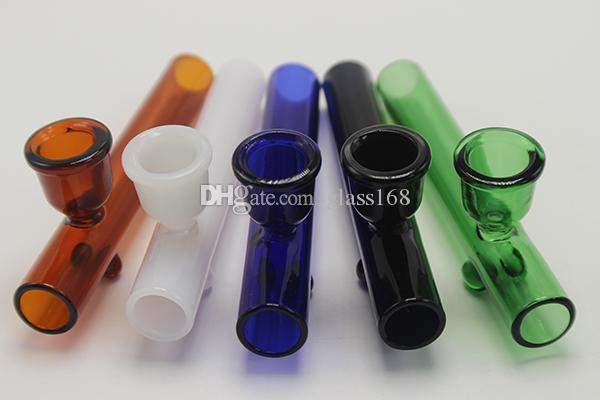 Kolorowe szkło palenia szklane szklane rury palnika oleju szklany olej palnik ślizgowa średnica 10mm z kolorowe koło okrągły krawędź do palenia