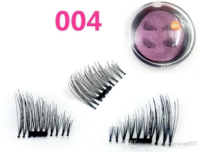 Creative NEW trend 3D magic reusable magnetic eyelashes hand made silk single magnet false eyelashes 30 set
