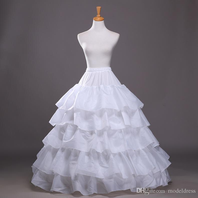 2016 New Ball Gown Petticoat White Crinoline Underskirt Wedding Dress Slip 3 Hoop Skirt Crinoline For Quinceanera Dress Cheap