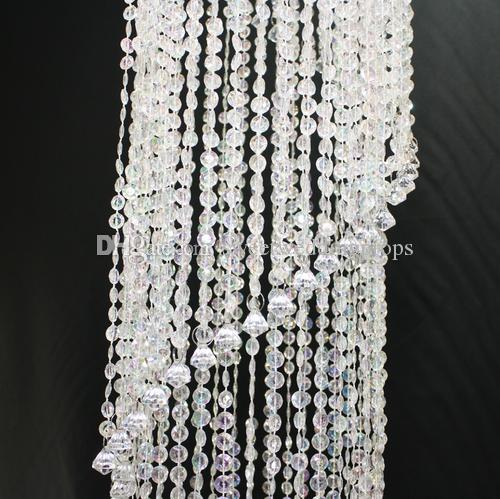 Round Chandelier for Wedding Decoration Crystal Lamp Decorative Romantic Party Supplies