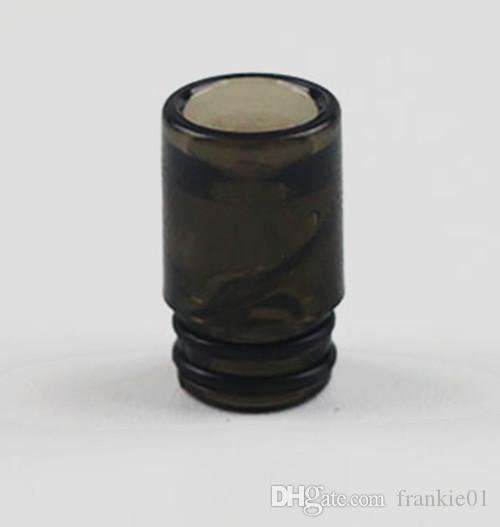 Sacacorchos Vuelta punta de goteo espiral vape boquilla boquilla consejos color negro claro 510 boquilla para tfv8 baby ego atomizador precio más barato