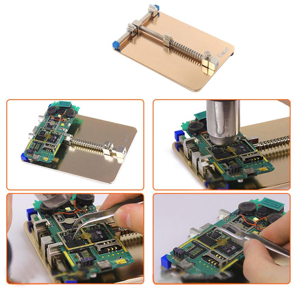 Kaisi Universal Metal PCB Board Holder Jig Fixture Work Station for iPhone Mobile Phone PDA MP3 Repair Tool