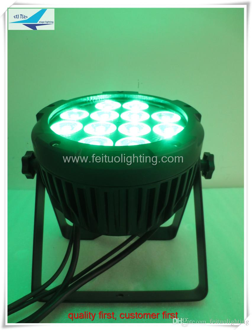 4light + 1road case 12x15w 5in1 ip65 led par can rgbwa 파 64
