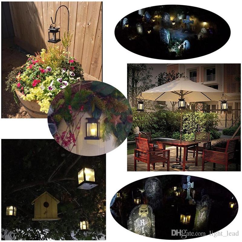 أضواء الشمسية خمر ماء IP44 7LM ABS شمعة ضوء الشمسية أضواء الحديقة الشمسية المشهد مظلة شجرة فانوس مصباح