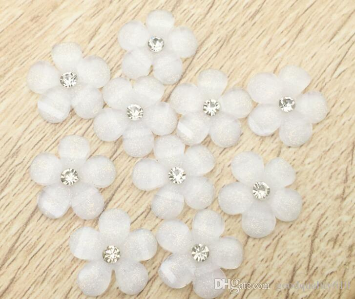 15mm Resin Rhinestone Flower Bead Beads Button Flat back For Scrapbooking Craft DIY Hair Clip Accessories