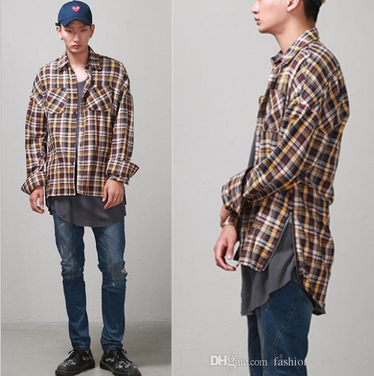 Compre De Calidad Superior 2017 Nueva Moda Primavera Otoño Justin Bieber  FOG Ambas Cremallera Venta Caliente De Los Hombres Camisas De Manga Larga  Camisa De ... a22aa2bb0e009
