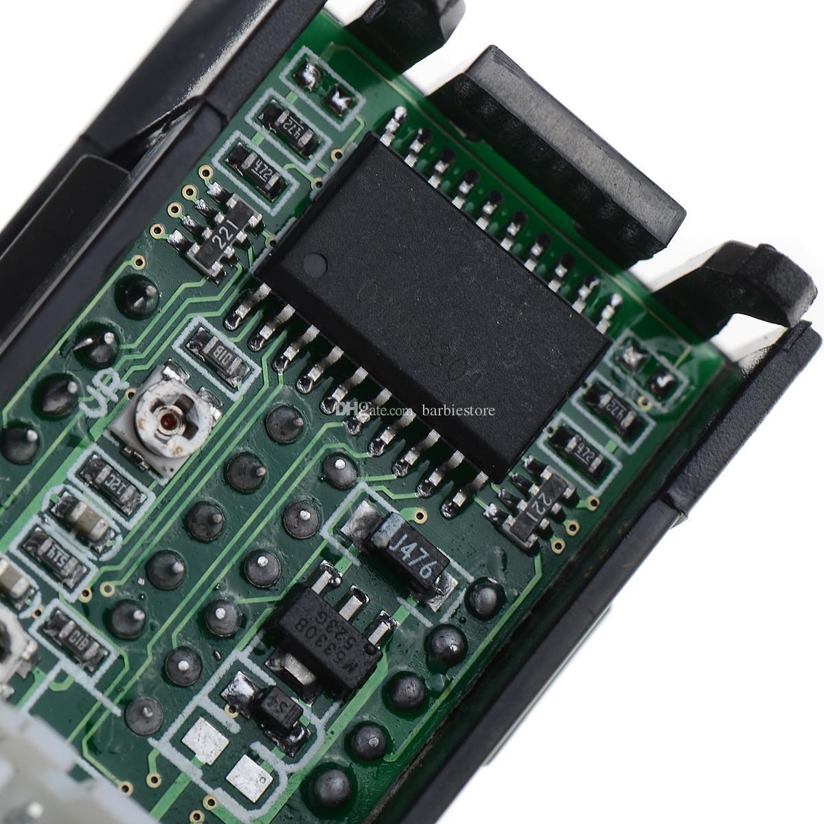Двойной LED DC цифровой дисплей Амперметр вольтметр ЖК-панель Amp Вольт 100A 100 в B00328