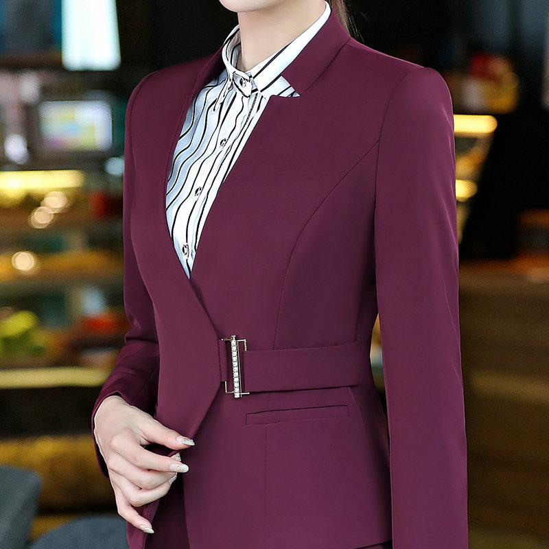 2019 Formal Office Blaser Suits Work Wear Women Long Sleeve Blazer Jacket  Femme Winter Autumn Spring Plus Size Ladies Tops From Moshuichun bfd9874d378c