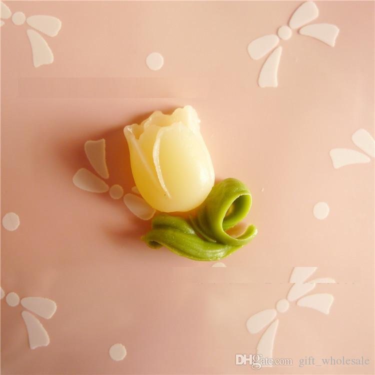 Fascino Cabochon Fiore Tulipano Flatback in resina multicolore / Trova, DIY Jewellerry Making Accessory i le scelte