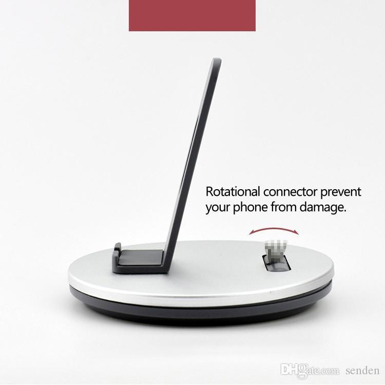 Atacado 2 em 1 Metal Docking Station Stand Titular, Universal Dock Sync de Carregamento Micro-USB / 8 P para IOS ou Android telefone móvel, tablets iPad