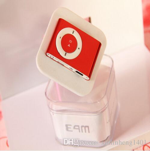 Mini clipe de apoio mp3 micro tf / sd slot com fone de ouvido e cabo usb portátil mp3 players de música frete grátis