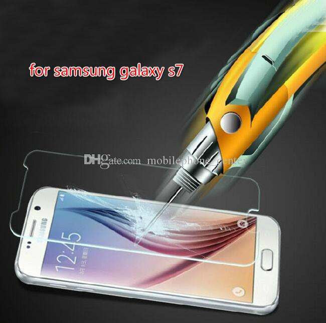 2016 hot 0.26mm 9H 2.5D Tempered Glass Screen Protector For Samsung Galaxy S7 / SM-G930A / SM-G9300 Free Shipping
