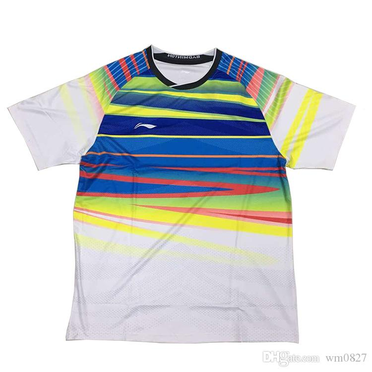 Li-Ning 2017 World badminton short sleeve Jersey shirts,Men women Competition training Athletic tenis Wear shirt,lin dan AAYM067 AAYM048