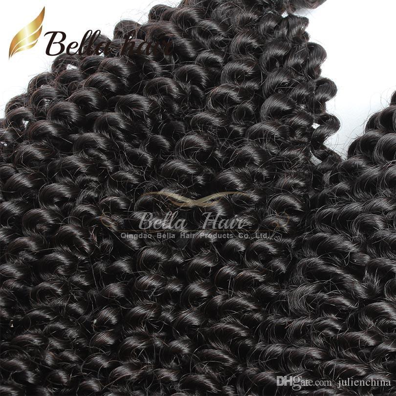 Bella Hair® бразильские волосы 9a афро кудрявый вьющиеся 10-24 дюймов индийские пучки волос малайзийский камбоджийский перуанский девственные волосы ткет Бесплатная доставка