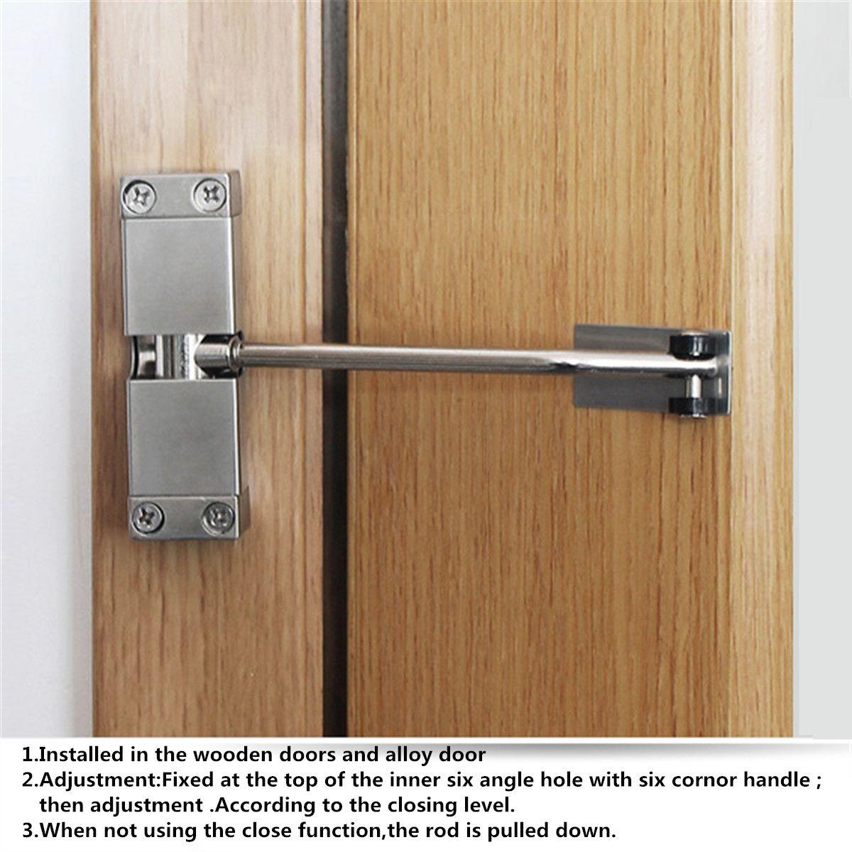 Adjustable Spring Door Closer Automatic Strength Hinge for Fire Rated Door Channel