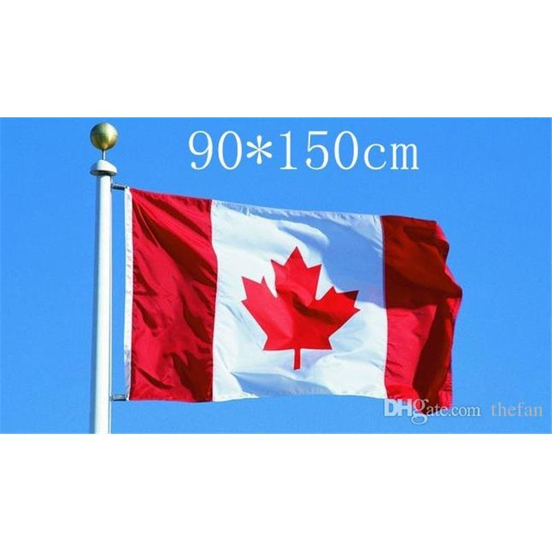 canada national flags 90cmx150cm canada red maple leaf banner large