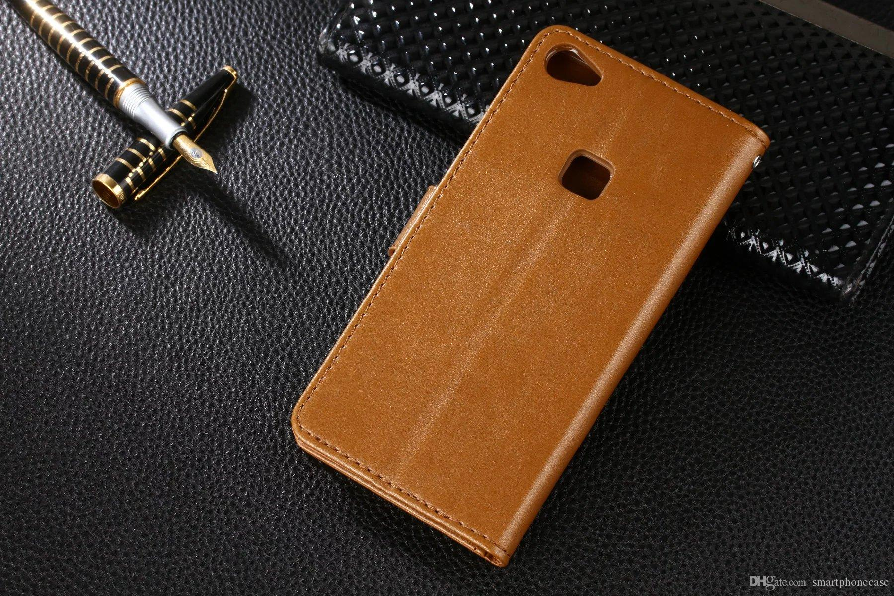 Para bbk vivo x6s plus case capa luxo colorido flip carteira de couro case para bbk vivo x6s plus