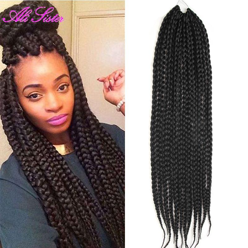 african box braids hair crochet hair expression braiding synthetic
