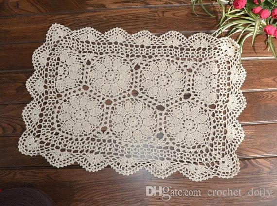 Half Flower Crochet Pattern Table Covervintage Look Crochet Table