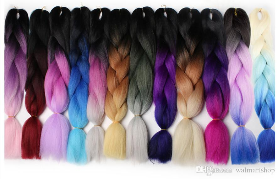 Nuove estensioni dei capelli le donne 60 cm 24 pollici sintetico Kanekalon moda trecce jumbo capelli i bea462