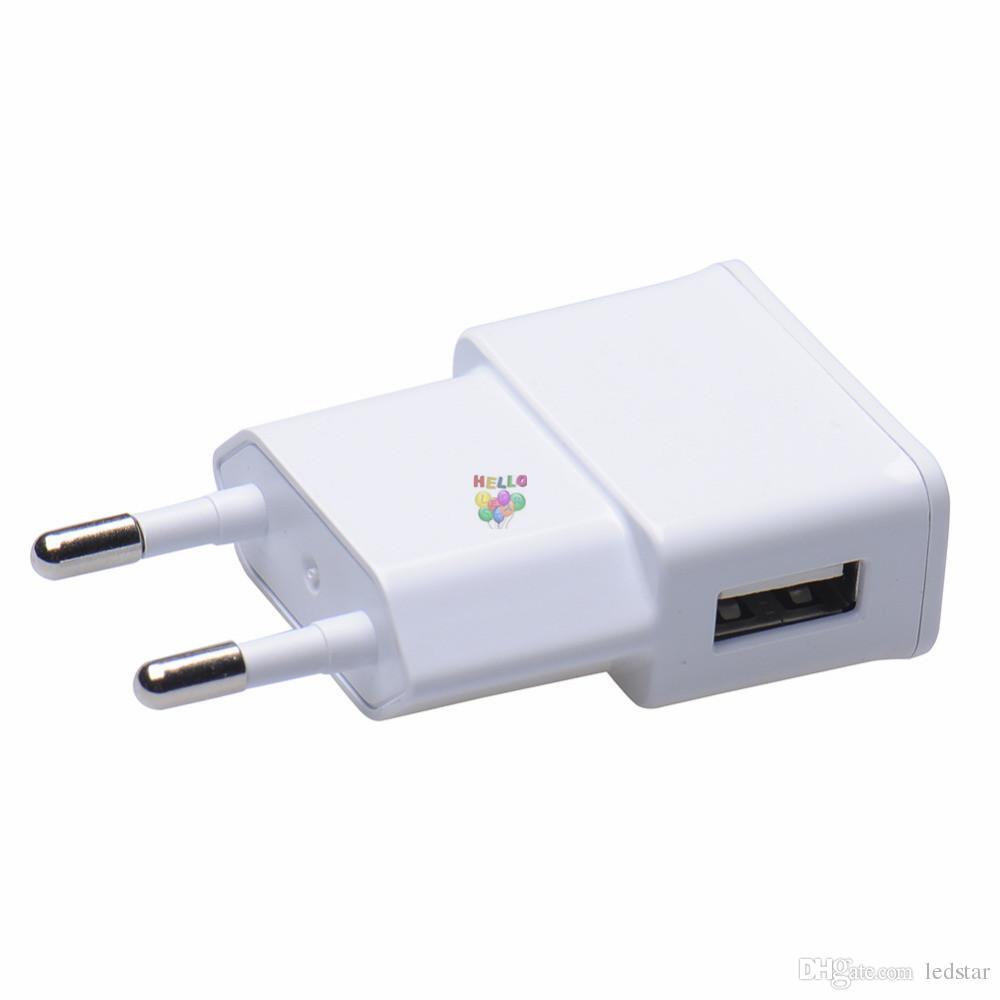 Alta calidad Blanco Negro Real Completo 5V 2A USB Cargador de Pared Adaptador de Viaje Eu EE. UU. Adaptador de corriente para Samsung s4 s6 s7 s8 nota 8 4 para gps mp4
