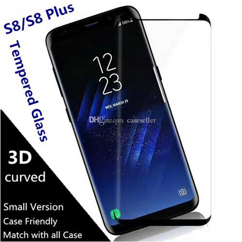 big sale 80575 09231 Case Friendly Scaled Down 3D Curved Film Tempered Glass For Samsung Galaxy  S10 PLUS S10e S8 Plus NOTE8 note9 S9 PLUS Screen Protector