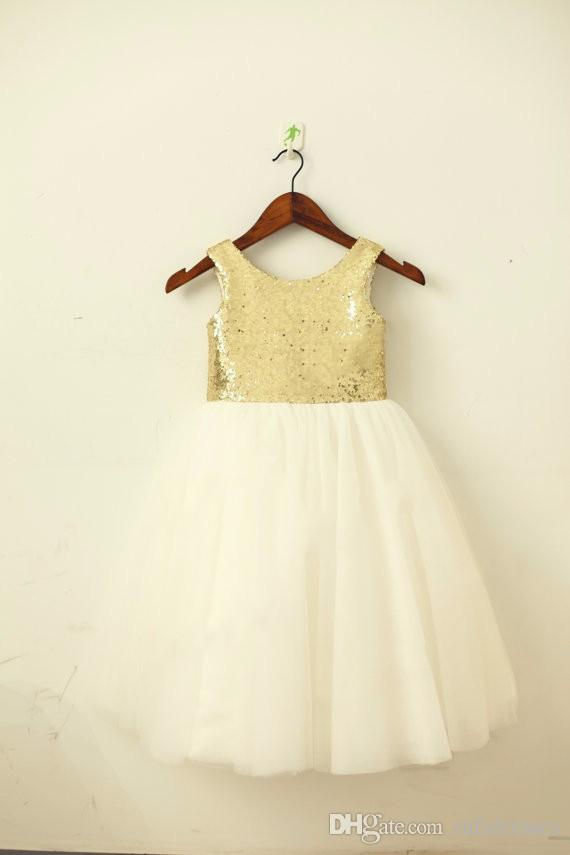 Gold Blush Pink SequinTulle Flower Girl Dress Champagne Navy Sash Bow  Wedding Children Easter Junior Communion Baptism Dress Cute Flower Girl  Dresses Cute ... aabe0a460b15