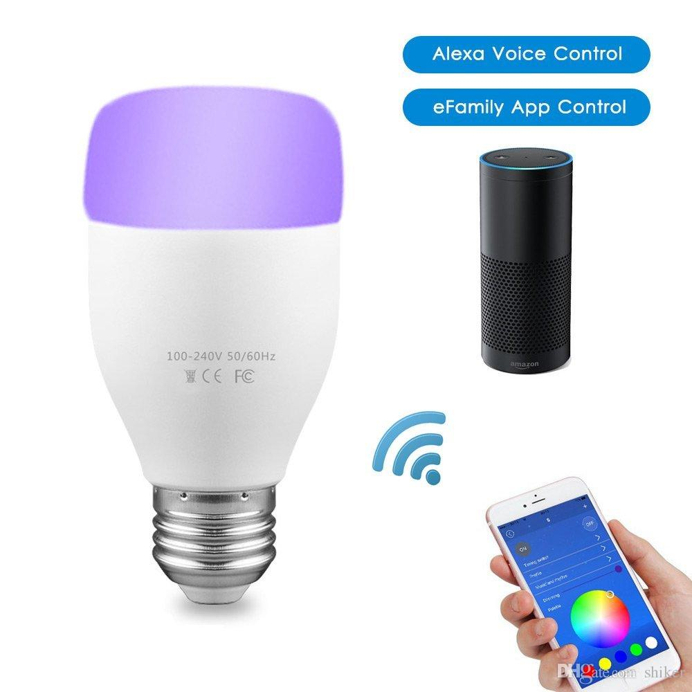 Wifi Smart LED Light Bulb E27 6W Mood Light Party Desk Lighting Bulb  Decorative Dimmable Colors Timer APP Wireless Remote Controlled