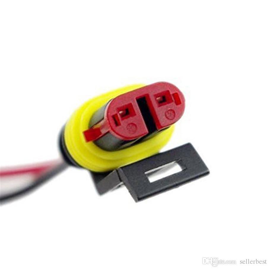 5 шт. / Лот 5 набор 2 PIN-код 2P 2Pin Car водонепроницаемый электрический разъем Plug с проволочным кабелем AWG Marine Hid