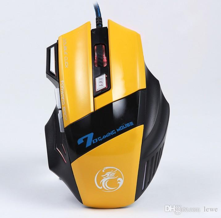 Professional Wired Gaming Mouse 7 Button 3200 DPI LED Optical USB Computer Mouse Gamer Mice x7