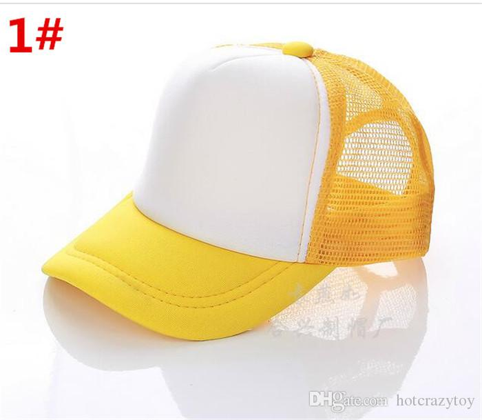 wholse hot sale fashion Kids Trucker Cap Adult Mesh Caps Blank Trucker Hats Snapback Hats Acept Custom Made Logo cool cap