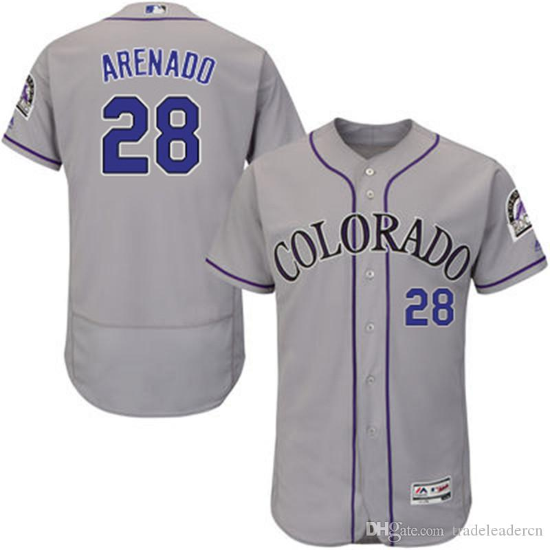 42f03b0e9 ... shopping closeout jersey double stitched mens 28 nolan arenado white  grey purple gray fashion stars majestic france mens colorado rockies ...