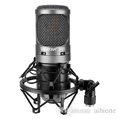 AIBIERTE Sonido de alta calidad Takstar SM-7B-M Micrófono de estudio de condensación Transmisión y grabación Micrófono Mic Sin cable de audio HOT