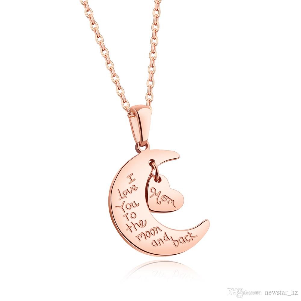 Wholesale new ladies women moon star sun cubic zirconia pendant wholesale new ladies women moon star sun cubic zirconia pendant stainless steel heart pendants chain necklace romantic charm jewelry gift for mom wife rose aloadofball Choice Image