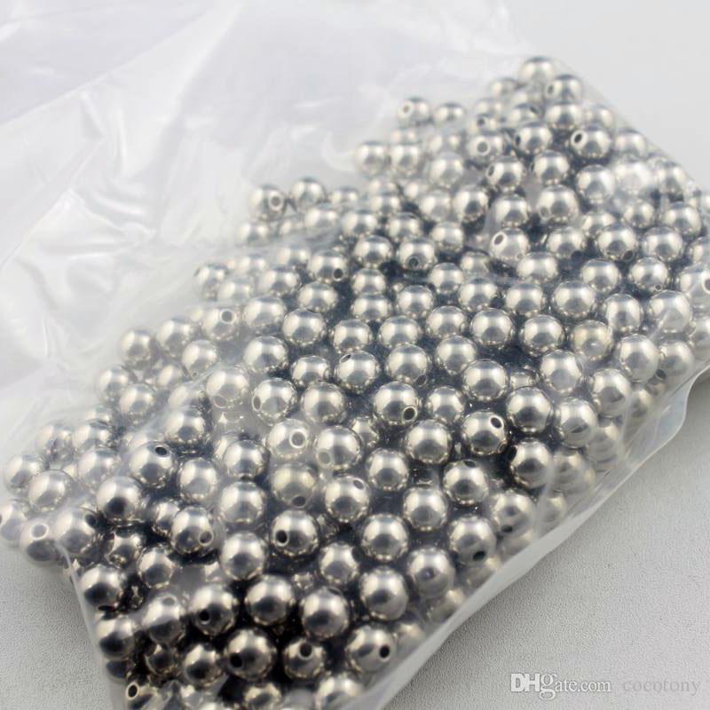 1.5mm / 2mm / 2.5mm / 3.5mm gat 8mm diameter gladde 316L roestvrij stalen kralen armband ketting accessoires sieraden DIY onderdelen 200 stks zsp033