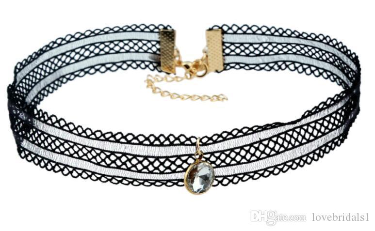2017 vente chaude pas cher gothique simple européen et américain bijoux collier tour de cou costume combinaison dentelle collier fabricants en gros
