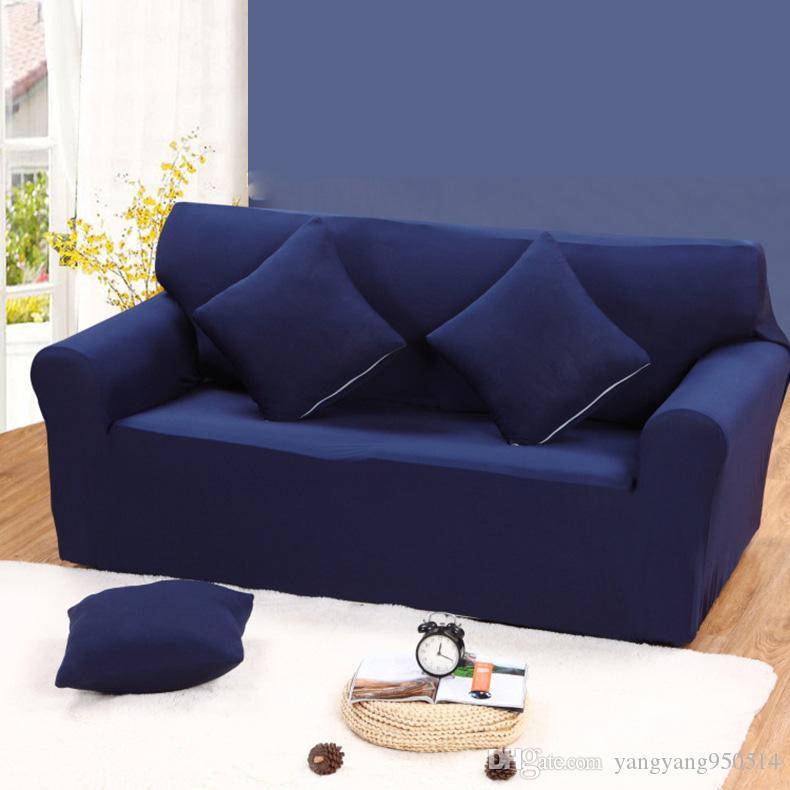 90 140cm Sofa Cover Big Elasticity 100% Polyester Spandex Stretch ...