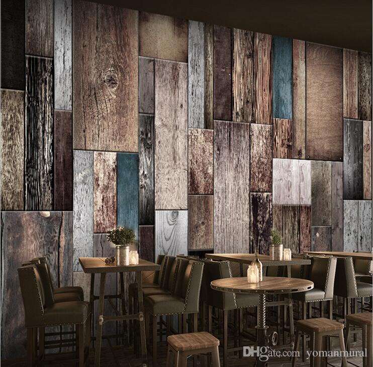 Modern 3D Wallpapers Non Woven Wood Wall Papers Modern Designer