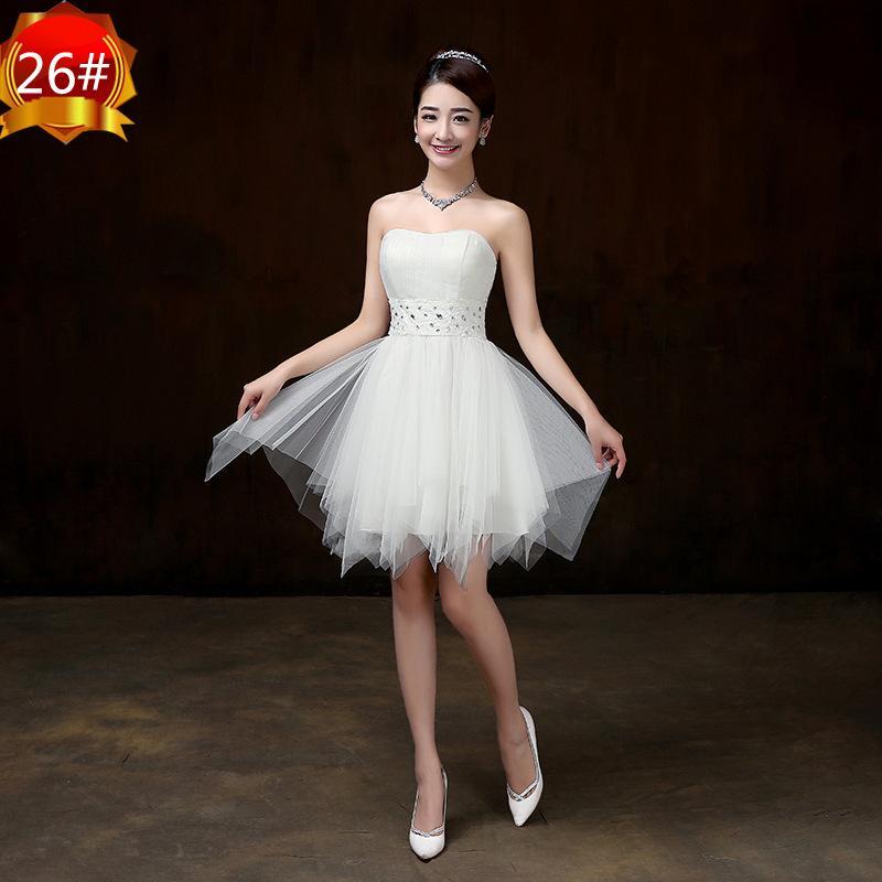 Compre 2018 Nuevos Vestidos De Dama De Honor Cortos Blancos Mujeres Boda Fiesta De Graduación Cóctel Elegantes Vestidos De Noche Bonitos Hermosos