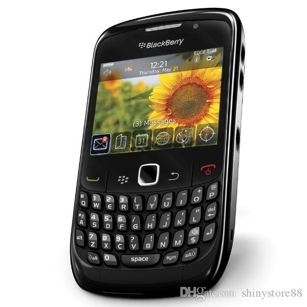 Оригинальный BlackBerry 8520 Кривая 2.46 дюйма 2MP QWERTY Клавиатура WiFi 2G GSM отремонтированный разблокированный мобильный телефон