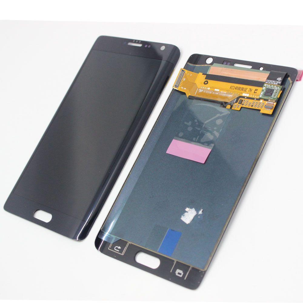 Samsung Galaxy Note Edge N915F LCD de pantalla táctil digitalizador NEGRO