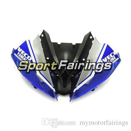 Carenados para Yamaha YZF600 R6 08 - 15 Año 2008 2009 2010 2011 2015 Sportbike ABS Motocicleta Kit de carenado Azul Plata Cascos