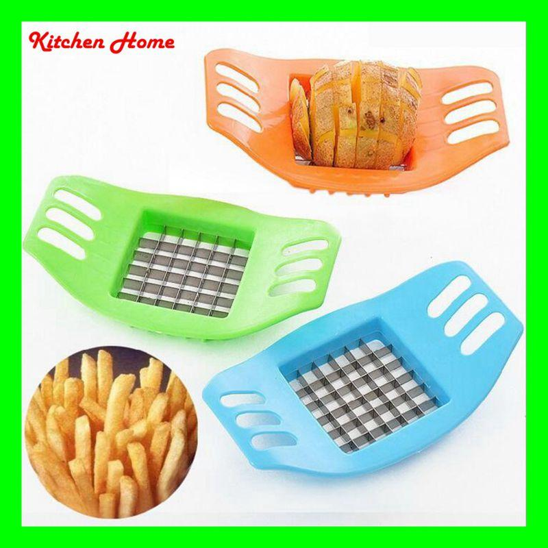 Pratical Potato French Fry Cutters Potato Cutting Device Knife Chips Strip-cutter Kitchen Vegetable Slicer Gadgets Tools