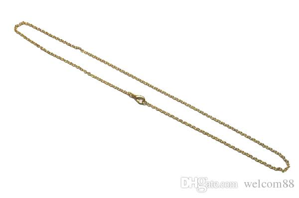 10 teile / los Gold Überzogene Halskette Ketten Zubehör für DIY Handwerk Schmuck Geschenk 16Inch GO12