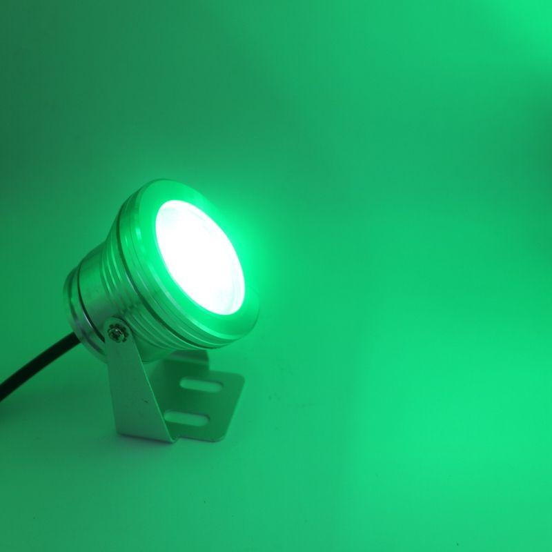 10W DC 12V Couvercle Argent LED RGB Spot Sous-marin Lumières Étanche IP68 Fontaine Piscine Ampoule Lampe 16 Changement De Couleur + Télécommande IR