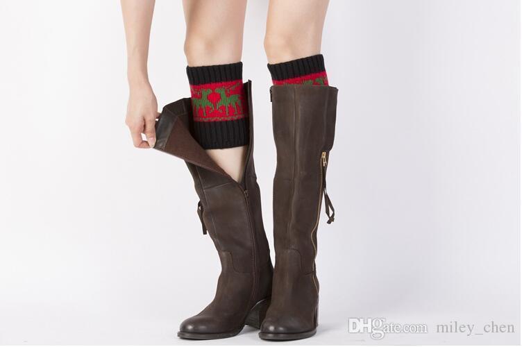 Großhandel 10 Farbe Frauen Häkeln Stiefel Manschetten Handmade ...